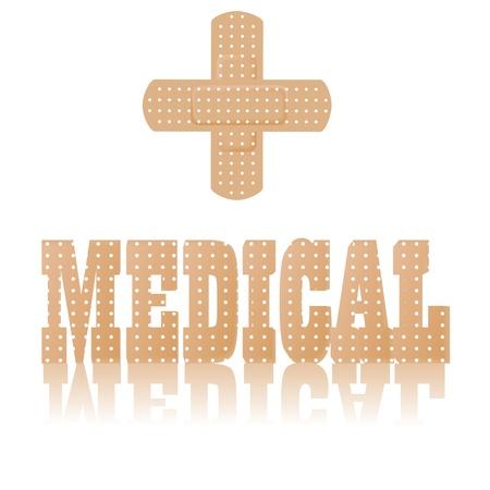 illustration of medical text and symbol Vector Illustration