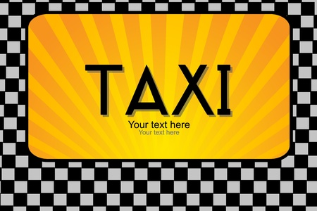 illustration of taxi text Vector