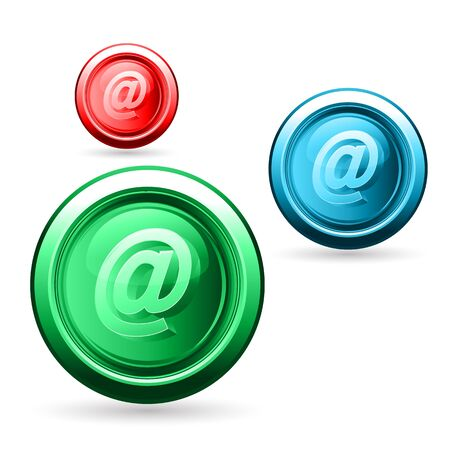 wehosting: illustration of web buttons on white background