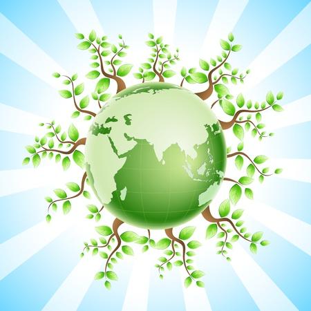 illustration of recycle globe Stock Illustration - 8303083