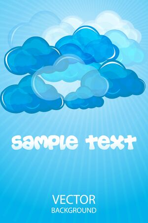 illustration of background with clouds Stock Vector - 8303102