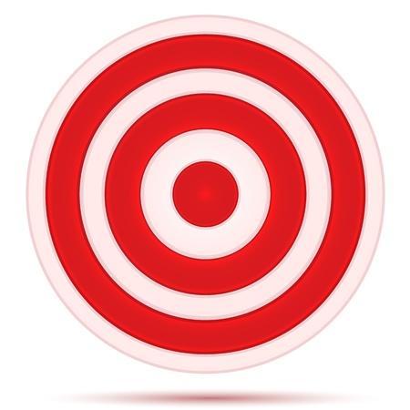 illustratie van targetbord op witte achtergrond Vector Illustratie