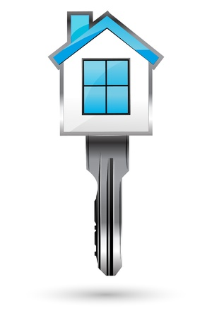illustration of house with key on white background Stock Vector - 8303023