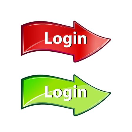 illustration of login arrow on white background Vector