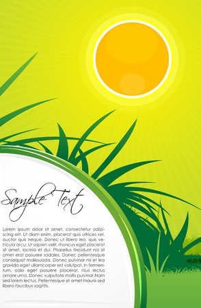 illustration of sunny nature card Stock Vector - 8373523