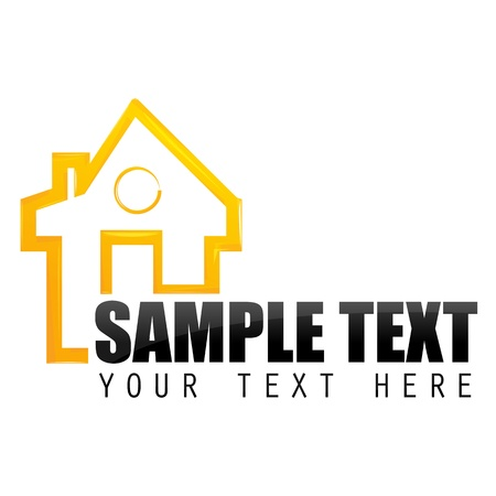 illustration of home sample card on white background Stock Vector - 8373421