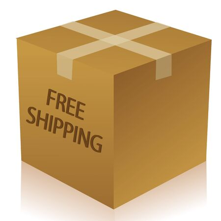 illustration of parcel box on white background Stock Vector - 8373341