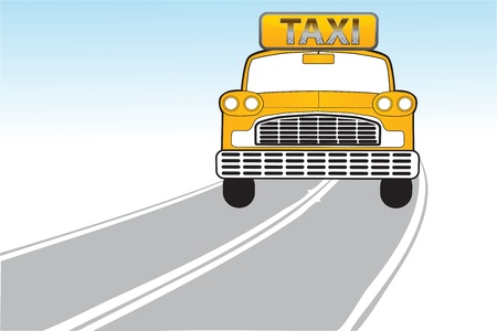 illustration of taxi on the way Vector