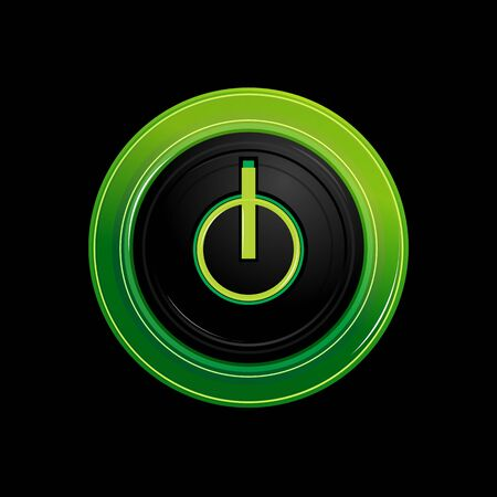 illustration of power button Stock Vector - 8373560