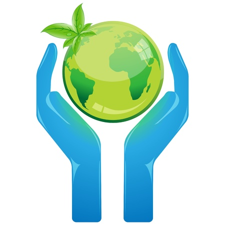 save the earth: illustration of save earth on white background Illustration