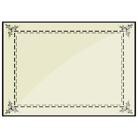 illustration of certificate frame Vector