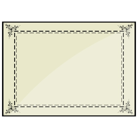 illustration of certificate frame Vector