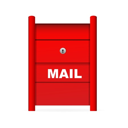 webspace: illustration of mail box on white background Illustration