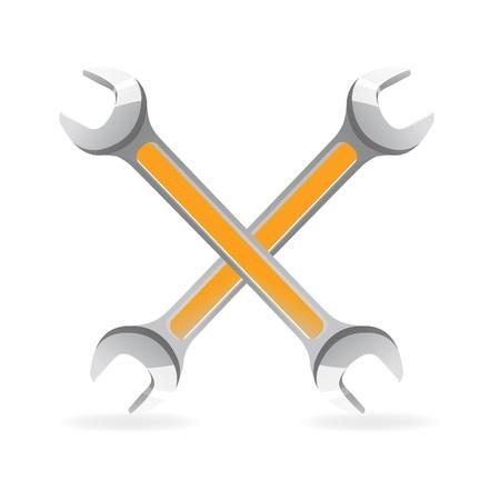 Illustration des outils icône sur fond blanc