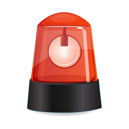 revolving: illustration of red alarm on white background