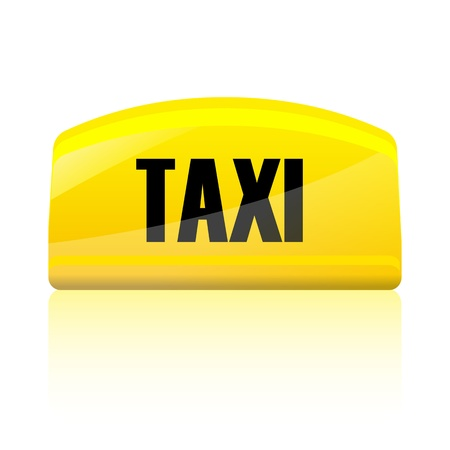 illustration of taxi sign on isolated background Vector