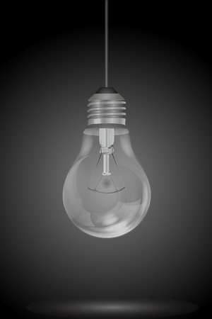 electric bulb: illustration of hanging electric bulb