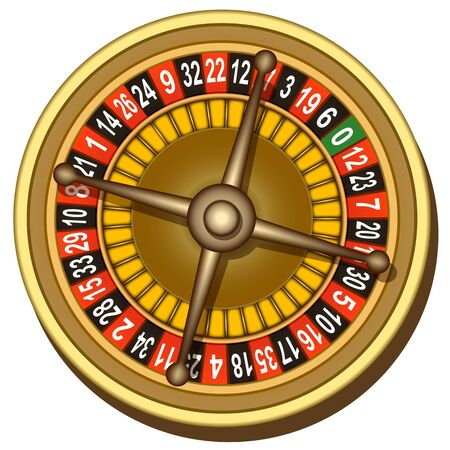 illustration of roulette board on white background Vector