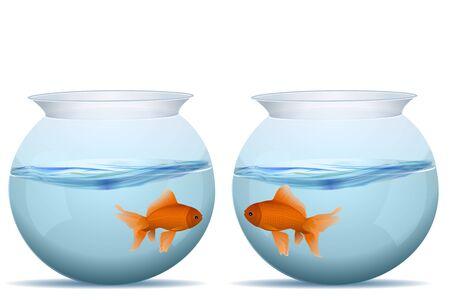 illustration de poissons dans des réservoirs Vecteurs