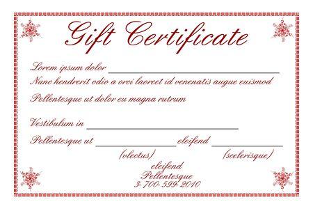 thankful: Ilustraci�n de certificado de regalo sobre fondo blanco