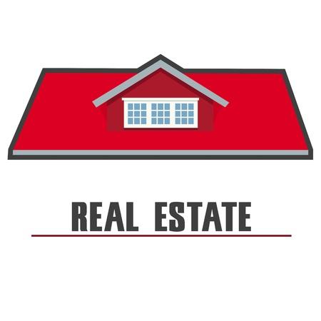 illustration of real estate on white background Stock Vector - 8373365