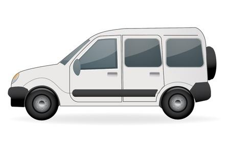 illustration of car on white background Vector