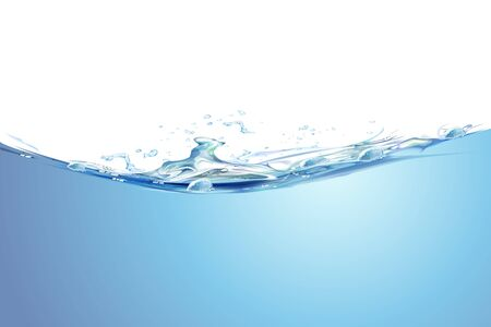illustration of splash of water on isolated background Stock Vector - 8373537