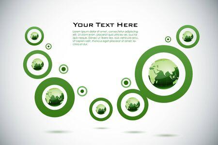 Ilustración de la tarjeta de presentación con globo sobre fondo blanco
