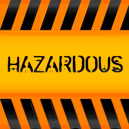 illustration of hazardous icon Vector