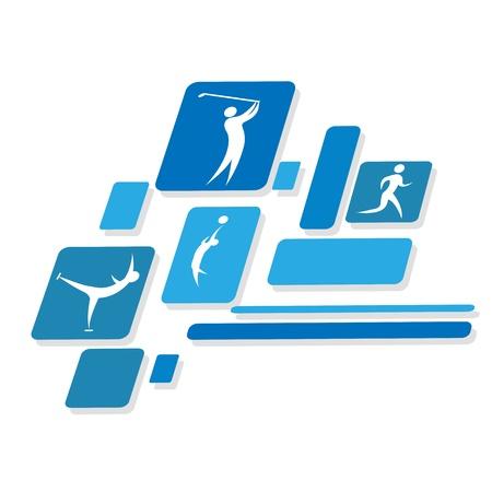 soccer: illustration of games icons on white background