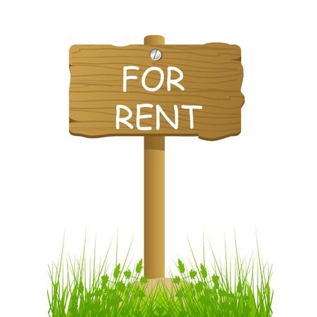 for rent: illustration of board for rent