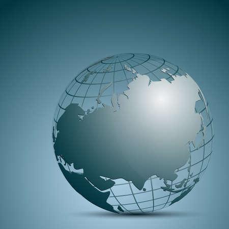 webspace: illustration of globe icon on white background Illustration