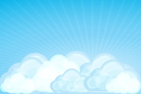 illustration of clouds with wave on white background Vector