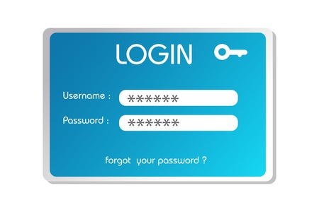illustration of login box on white background Vector