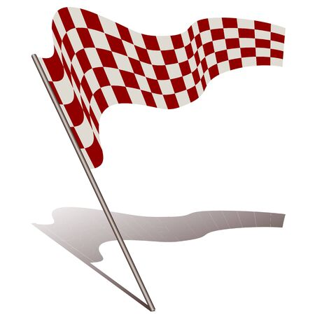 illustration of racing flag on white background Vector