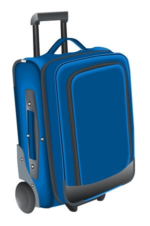 trolley case: illustration of travelling bag on white background Illustration