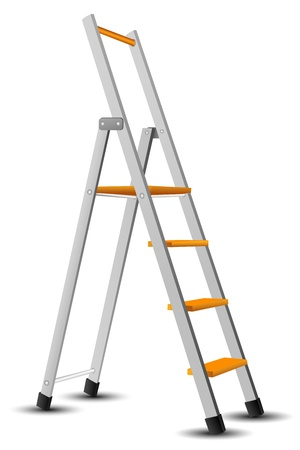escaleras: Ilustraci�n de escalera sobre fondo aislado