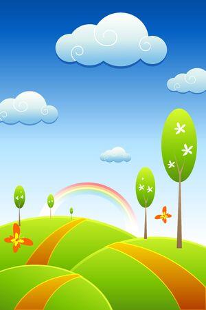 illustration of natural sight Illustration
