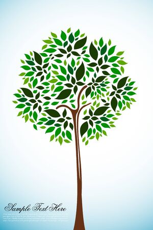 illustration of natural tree on white background Vector