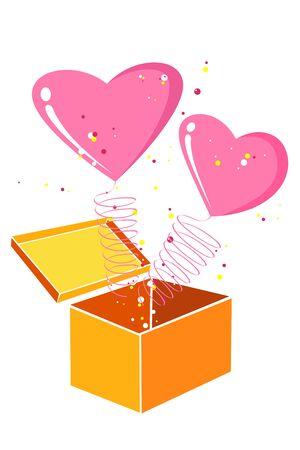 truelove: illustrazione della carta di San Valentino con cuori su sfondo bianco
