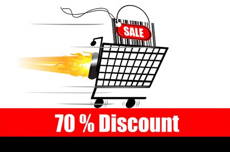 illustration of discount advertisement Stock Vector - 8441875