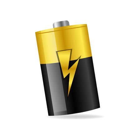 illustration of battery icon on isolated background Vector