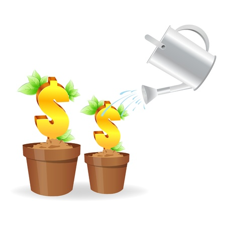 illustration of dollar plant on white background Vector