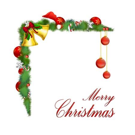 caramelos navidad: Ilustraci�n de una simple tarjeta de Navidad feliz sobre fondo blanco Vectores