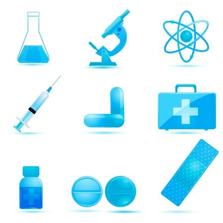 illustration of medical icons om white background Stock Vector - 8442014