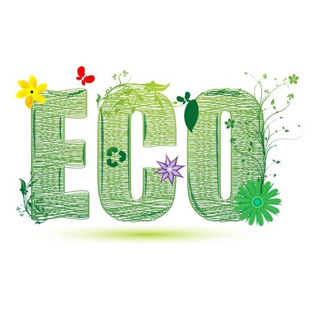 illustration of eco recycle on white background Stock Vector - 8442109