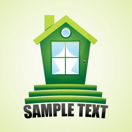 illustration of green home Stock Vector - 8441782