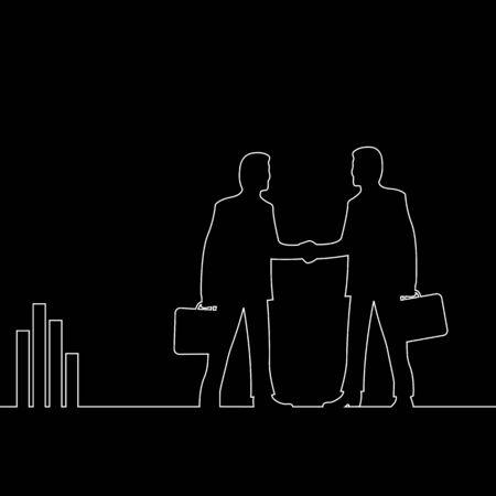 la union hace la fuerza: Ilustraci�n de negocio