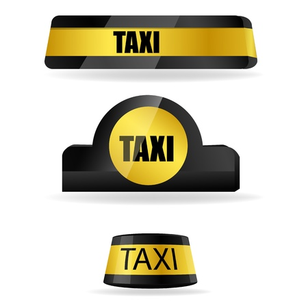 illustration of taxi tags on white background Vector
