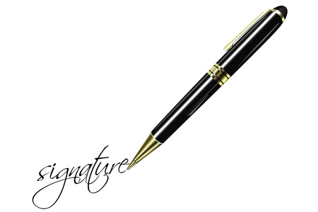 illustration of fountain pen on isolated background